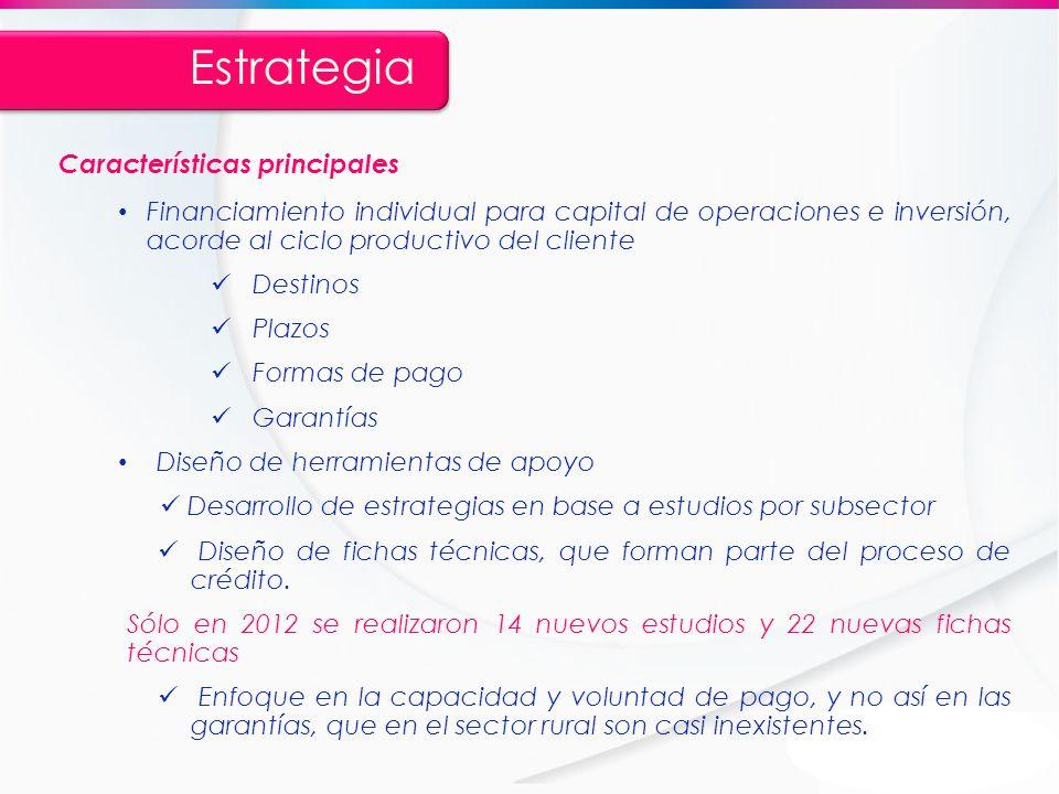 Estrategia Características principales