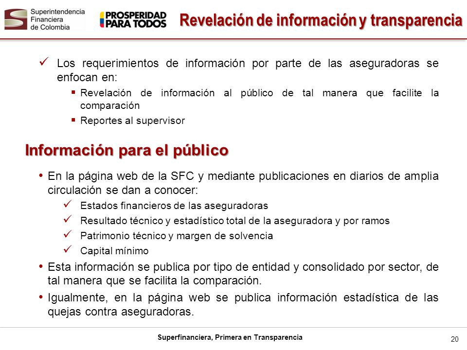 Revelación de información y transparencia