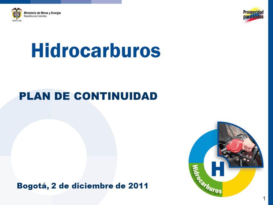 PLAN DE CONTINUIDAD Bogotá, 2 de diciembre de 2011