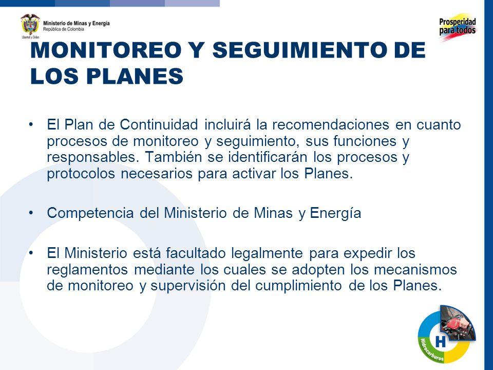 MONITOREO Y SEGUIMIENTO DE LOS PLANES