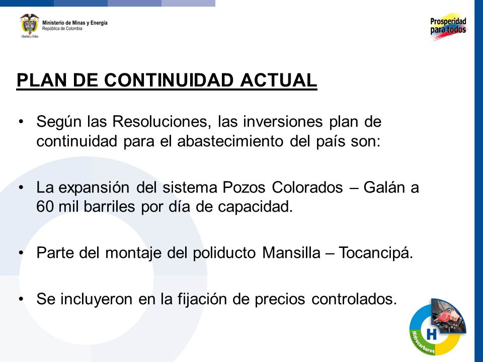 PLAN DE CONTINUIDAD ACTUAL