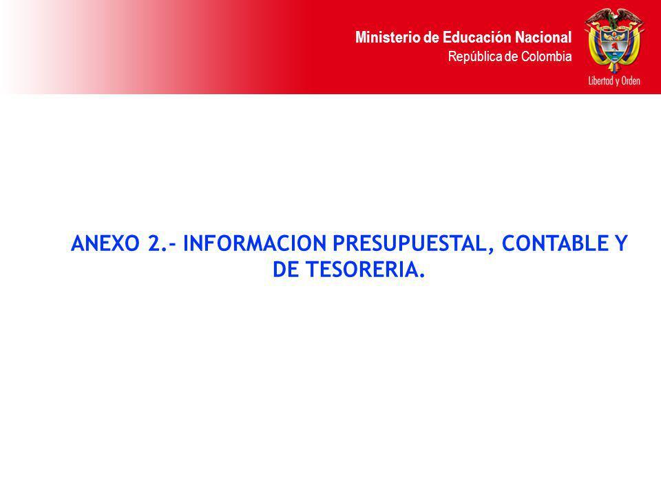 ANEXO 2.- INFORMACION PRESUPUESTAL, CONTABLE Y
