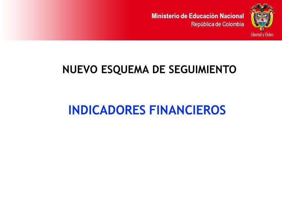 NUEVO ESQUEMA DE SEGUIMIENTO INDICADORES FINANCIEROS