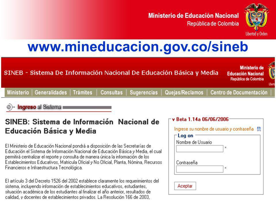 www.mineducacion.gov.co/sineb