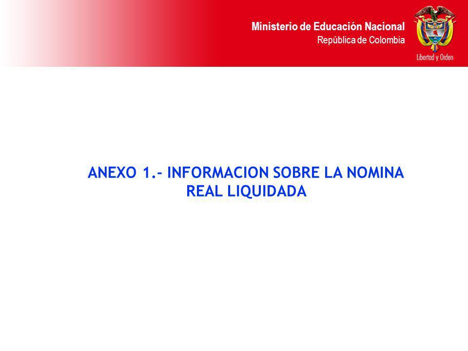 ANEXO 1.- INFORMACION SOBRE LA NOMINA