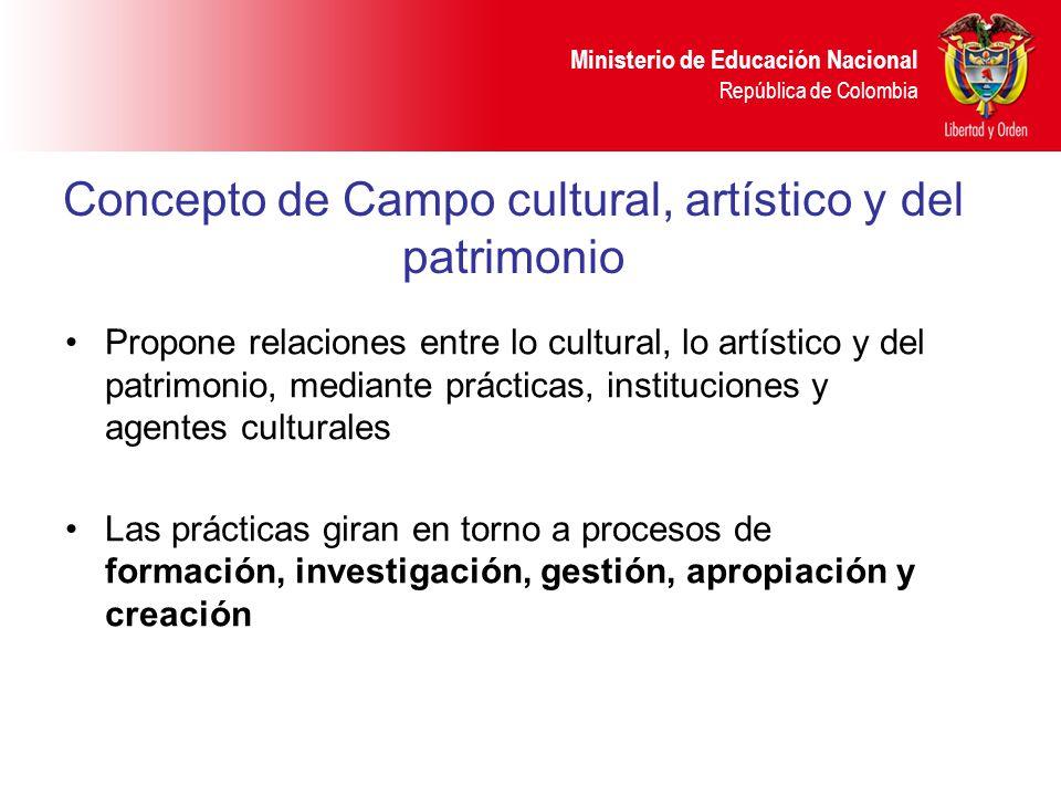 Concepto de Campo cultural, artístico y del patrimonio