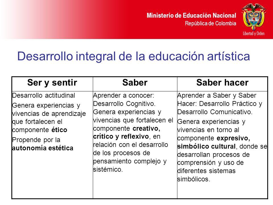 Desarrollo integral de la educación artística