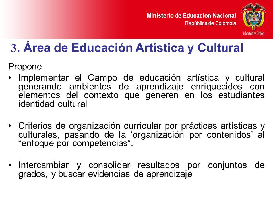 3. Área de Educación Artística y Cultural