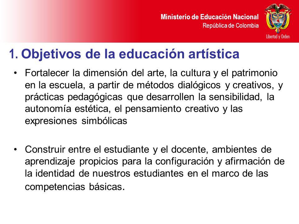 1. Objetivos de la educación artística