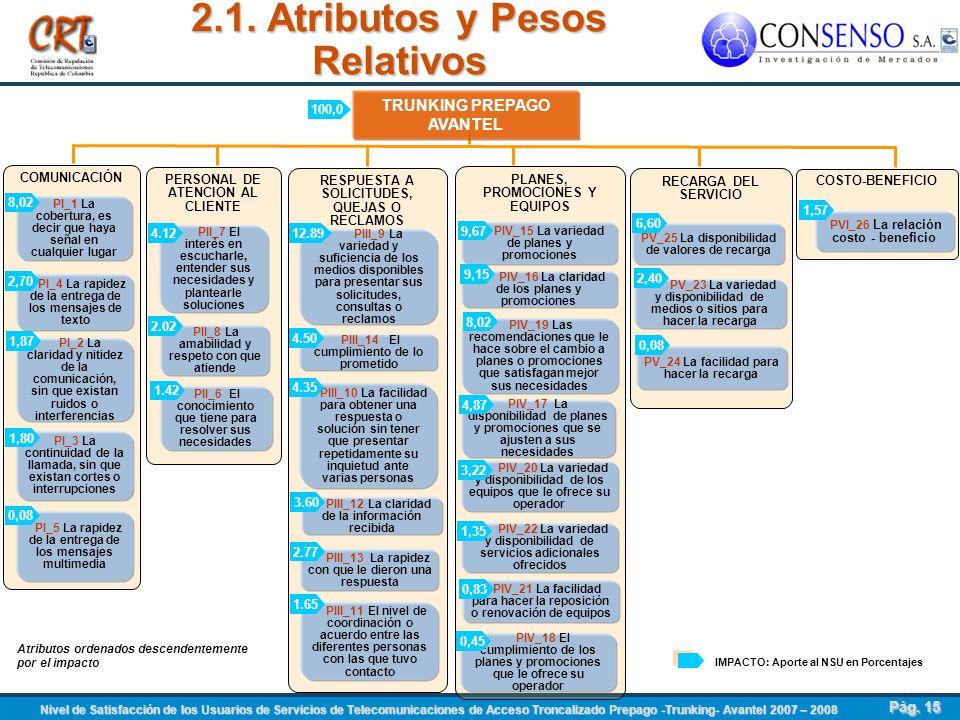2.1. Atributos y Pesos Relativos