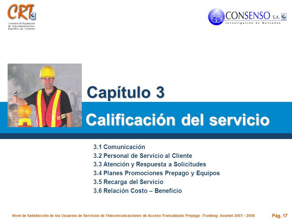 Calificación del servicio