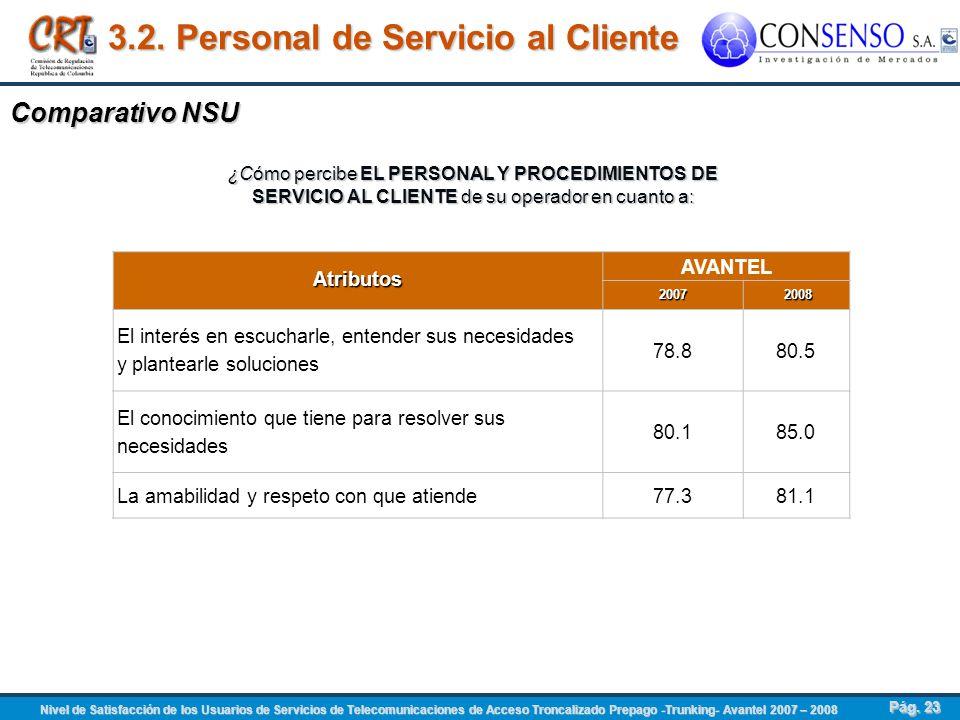 3.2. Personal de Servicio al Cliente