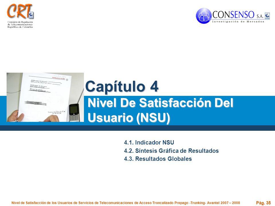 Capítulo 4 Nivel De Satisfacción Del Usuario (NSU) 4.1. Indicador NSU