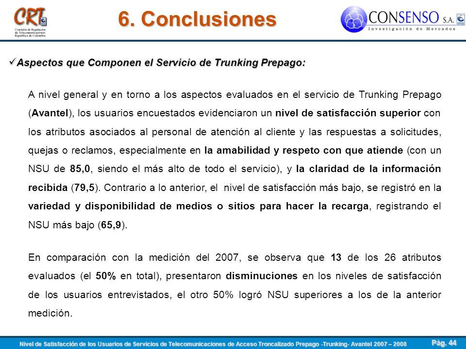 6. Conclusiones Aspectos que Componen el Servicio de Trunking Prepago: