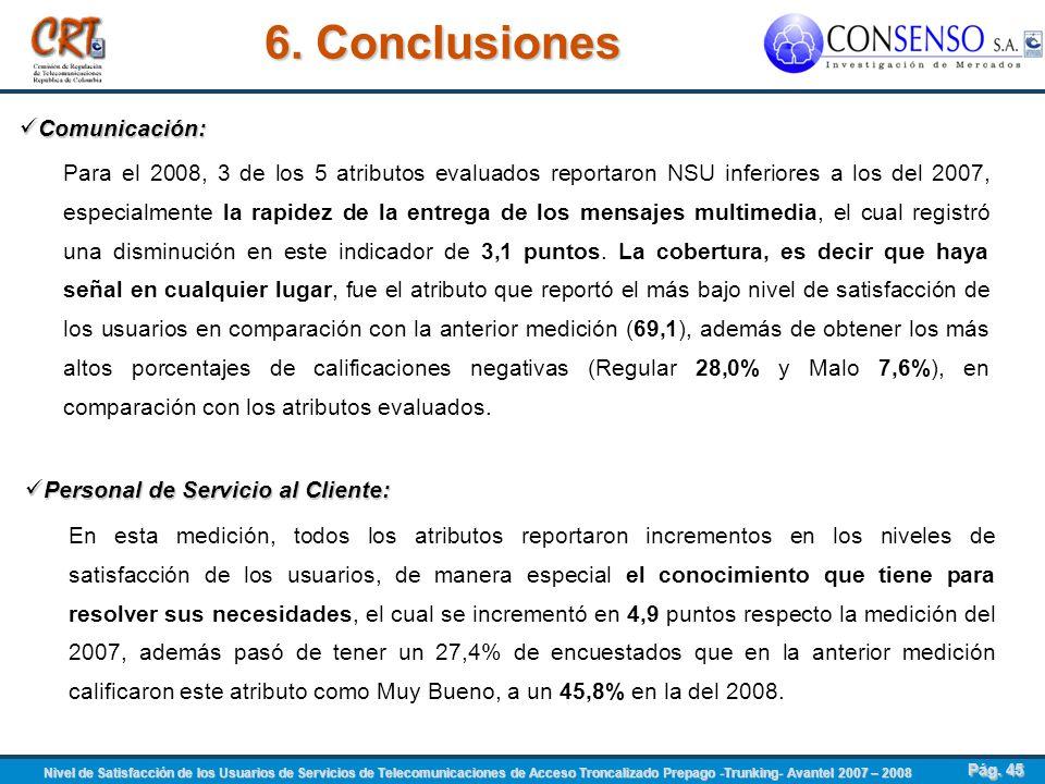 6. Conclusiones Comunicación:
