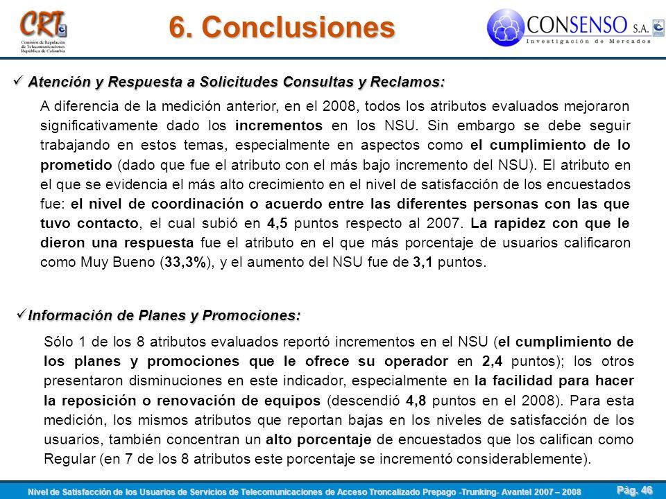 6. Conclusiones Atención y Respuesta a Solicitudes Consultas y Reclamos: