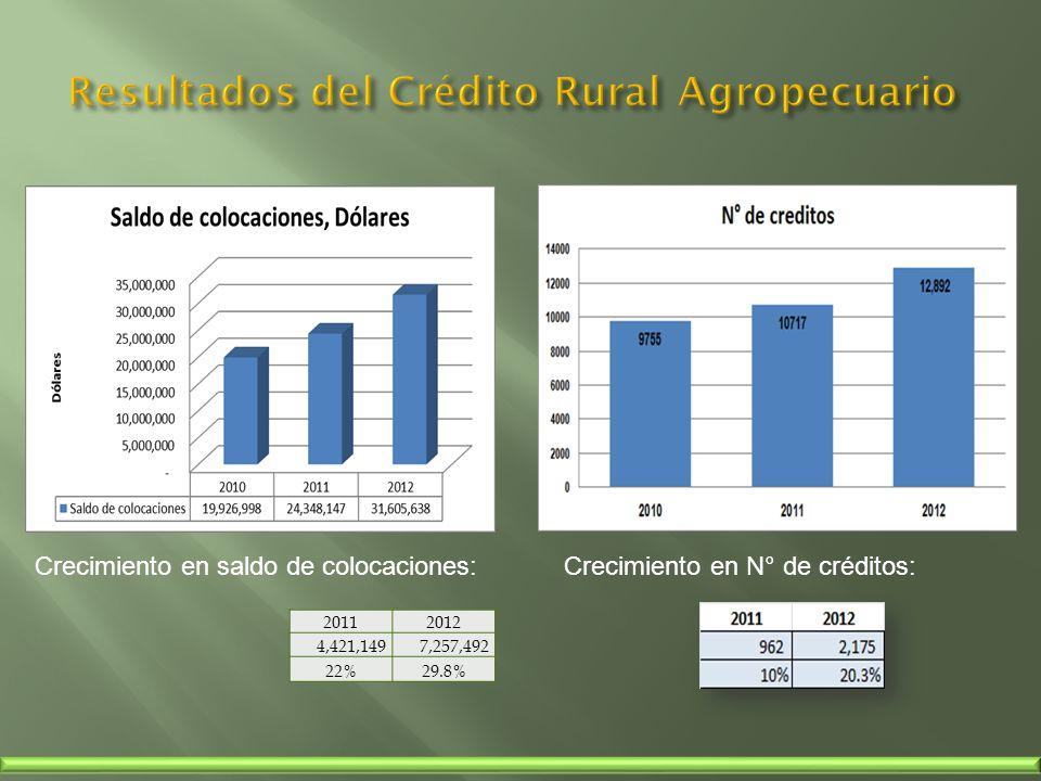 Resultados del Crédito Rural Agropecuario