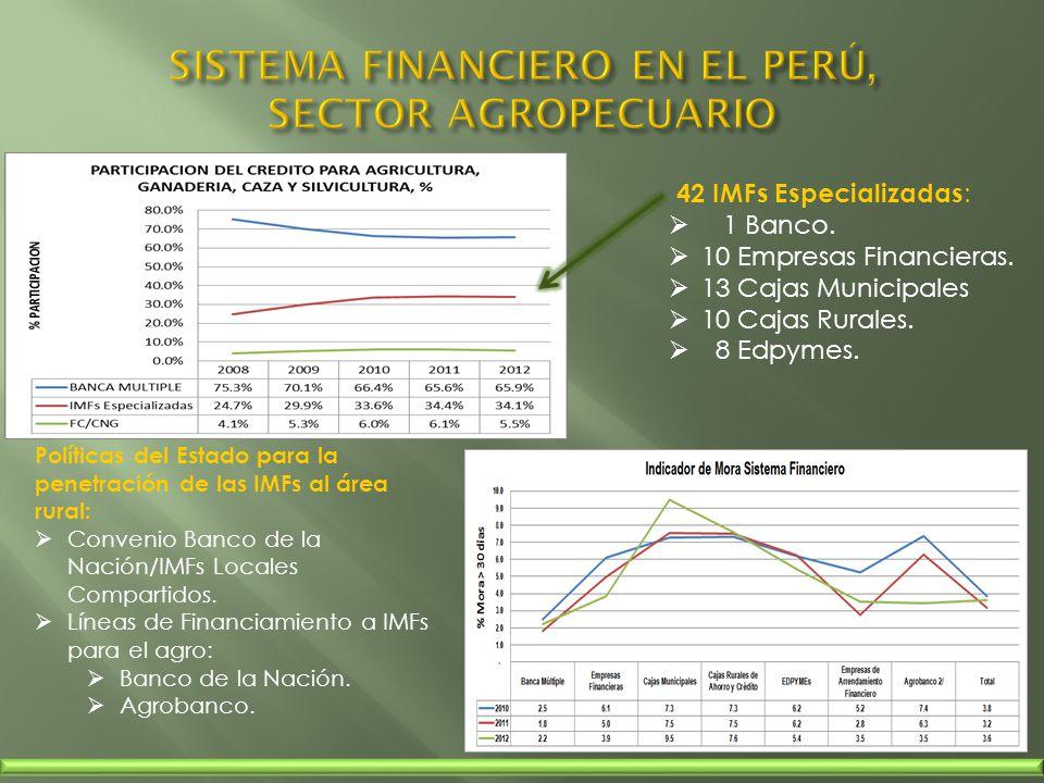 SISTEMA FINANCIERO EN EL PERÚ, SECTOR AGROPECUARIO