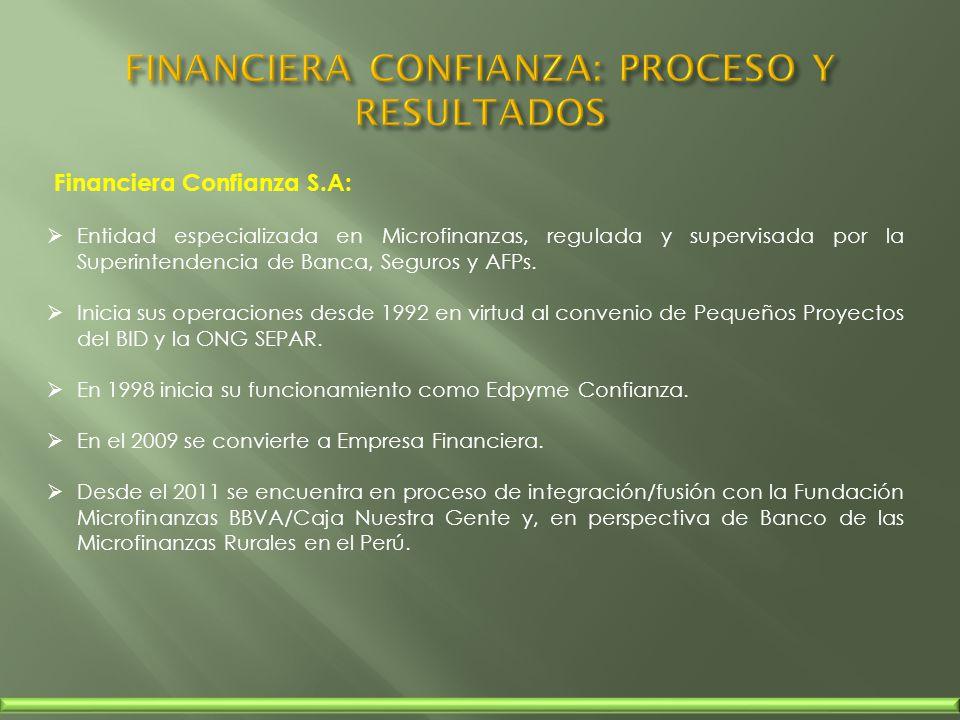 FINANCIERA CONFIANZA: PROCESO Y RESULTADOS