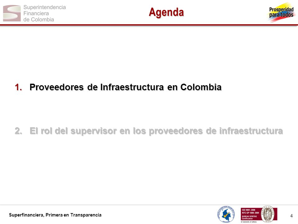 Agenda Proveedores de Infraestructura en Colombia