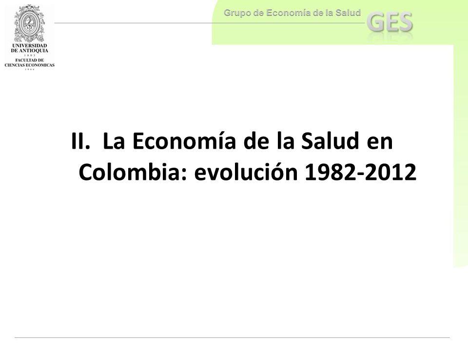 La Economía de la Salud en Colombia: evolución 1982-2012