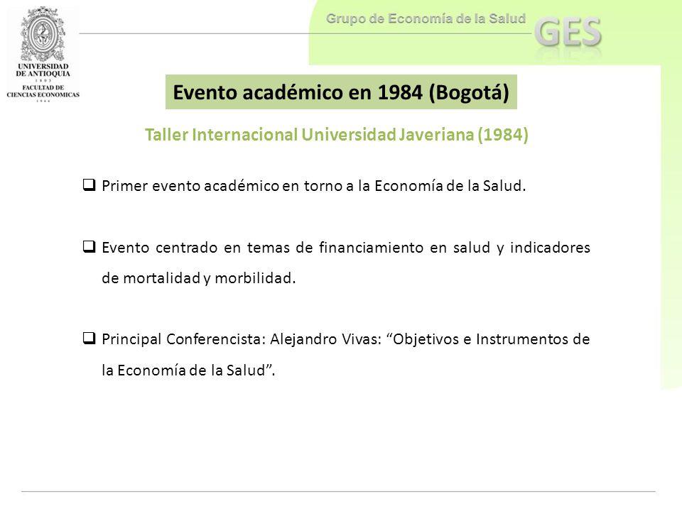 Evento académico en 1984 (Bogotá)