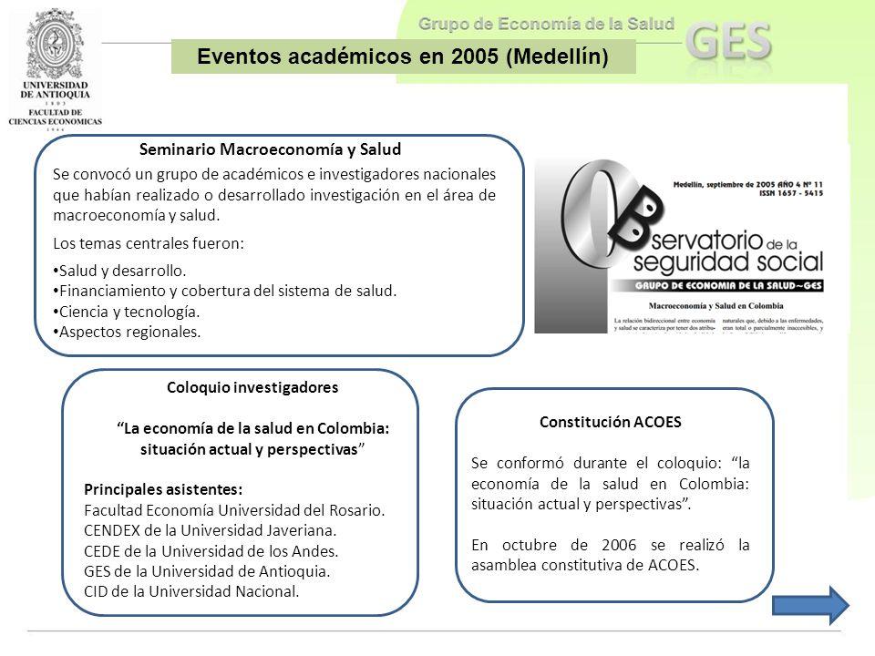 Eventos académicos en 2005 (Medellín)