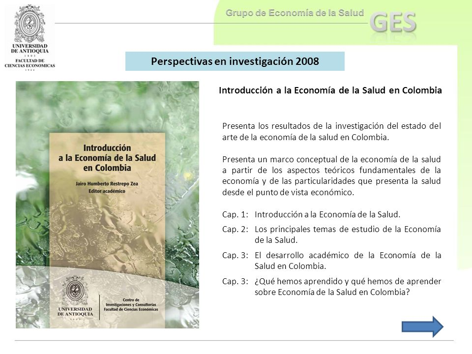 Perspectivas en investigación 2008
