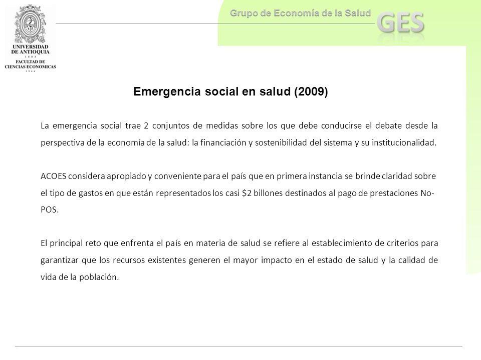 Emergencia social en salud (2009)