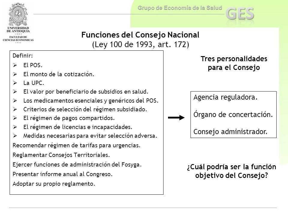 Funciones del Consejo Nacional