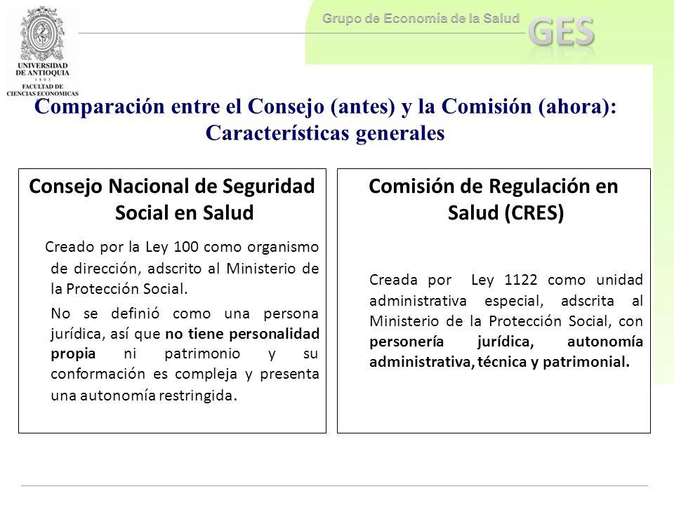 Comparación entre el Consejo (antes) y la Comisión (ahora):