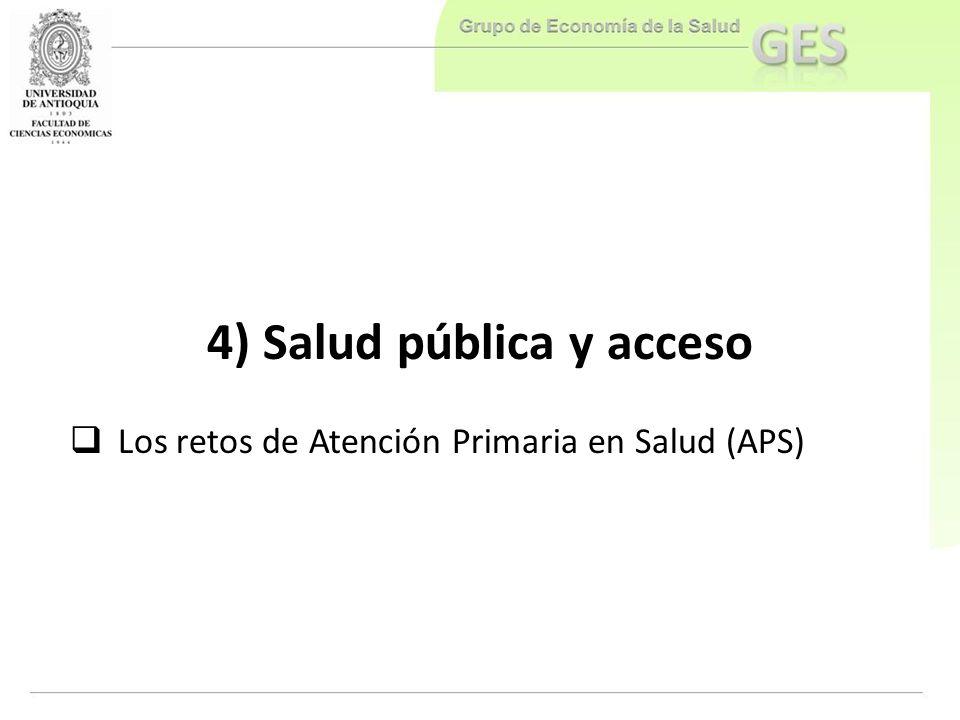 4) Salud pública y acceso
