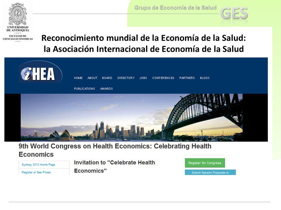 Reconocimiento mundial de la Economía de la Salud: