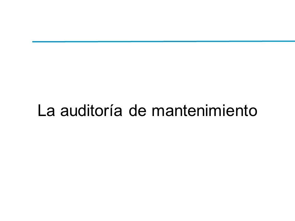 La auditoría de mantenimiento