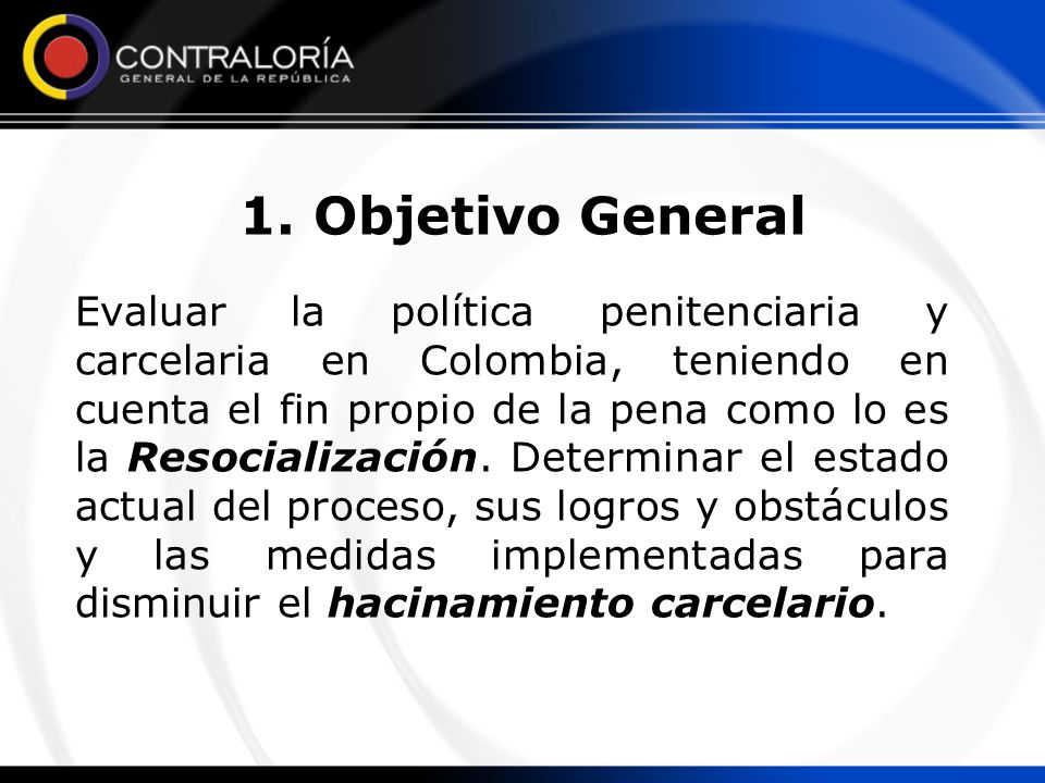 1. Objetivo General