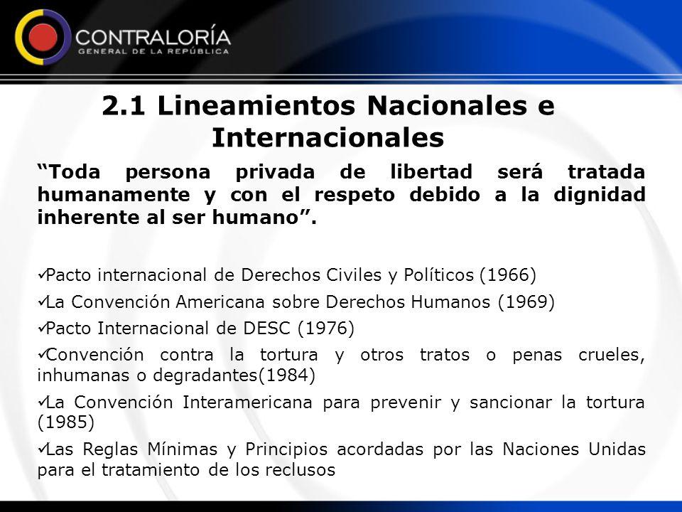 2.1 Lineamientos Nacionales e Internacionales