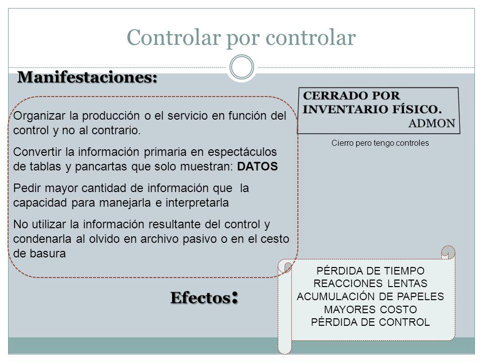 Controlar por controlar