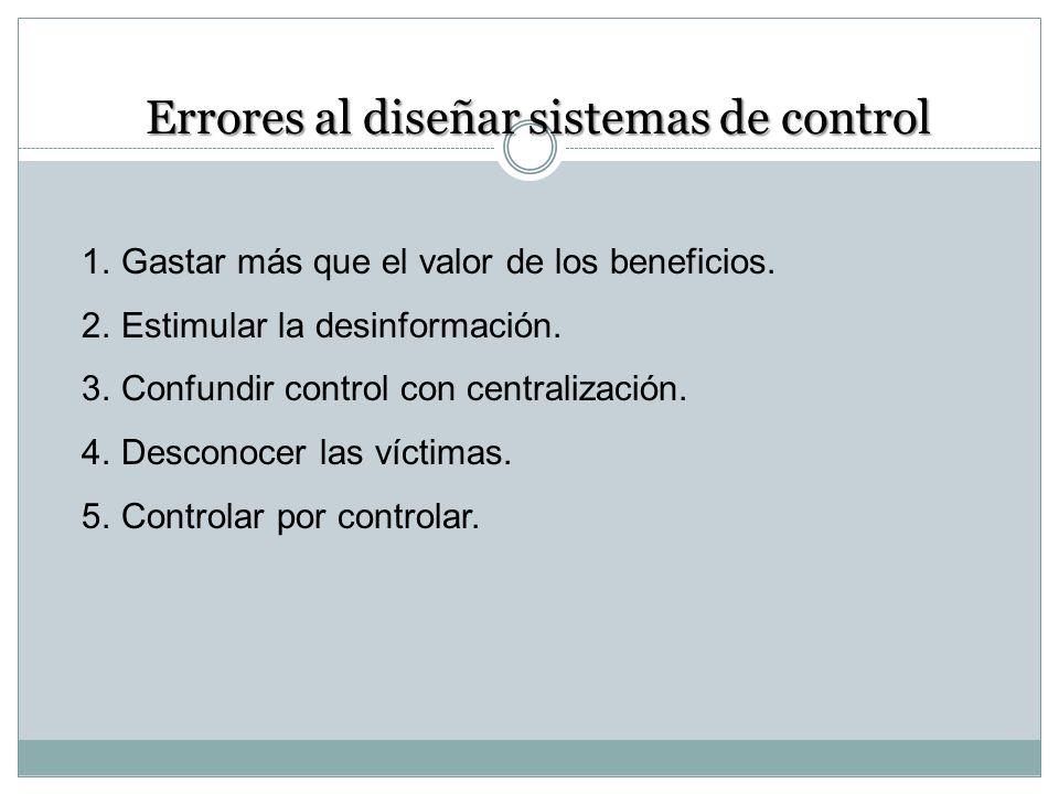 Errores al diseñar sistemas de control