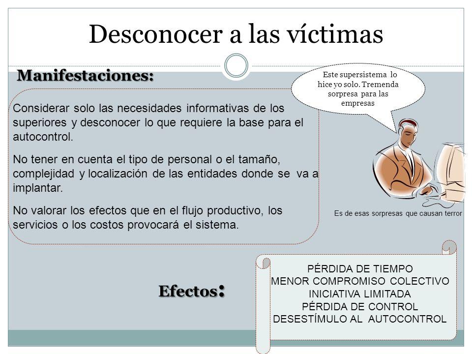 Desconocer a las víctimas