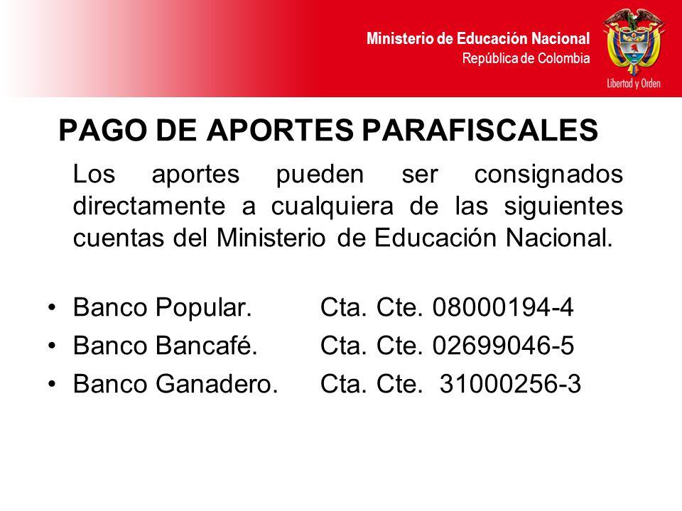 PAGO DE APORTES PARAFISCALES