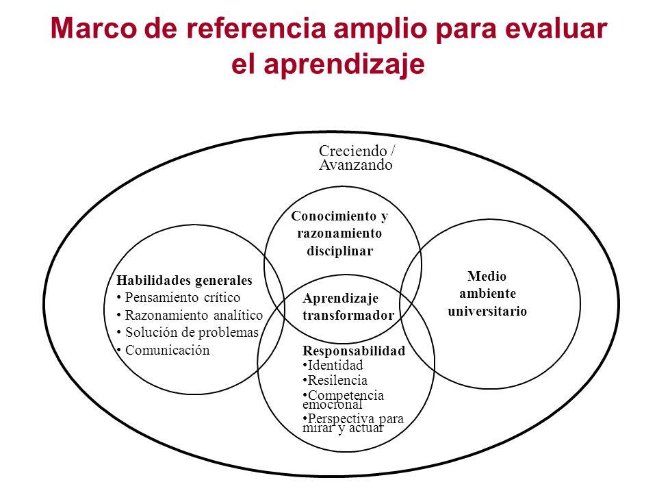 Marco de referencia amplio para evaluar el aprendizaje