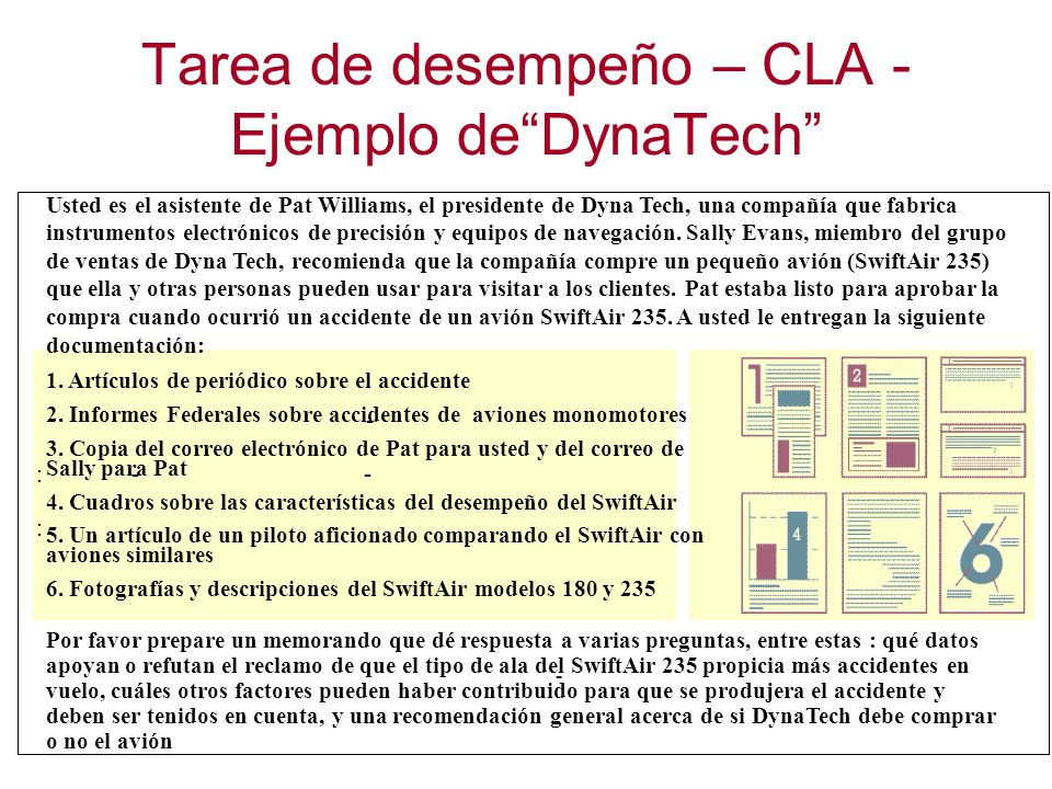 Tarea de desempeño – CLA - Ejemplo de DynaTech