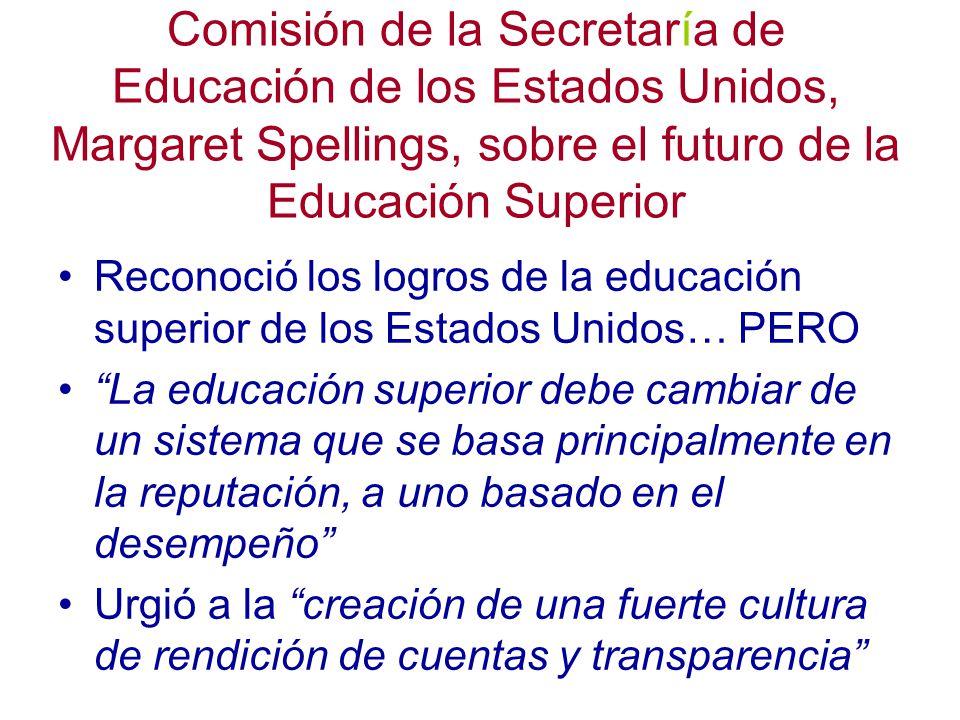 Comisión de la Secretaría de Educación de los Estados Unidos, Margaret Spellings, sobre el futuro de la Educación Superior