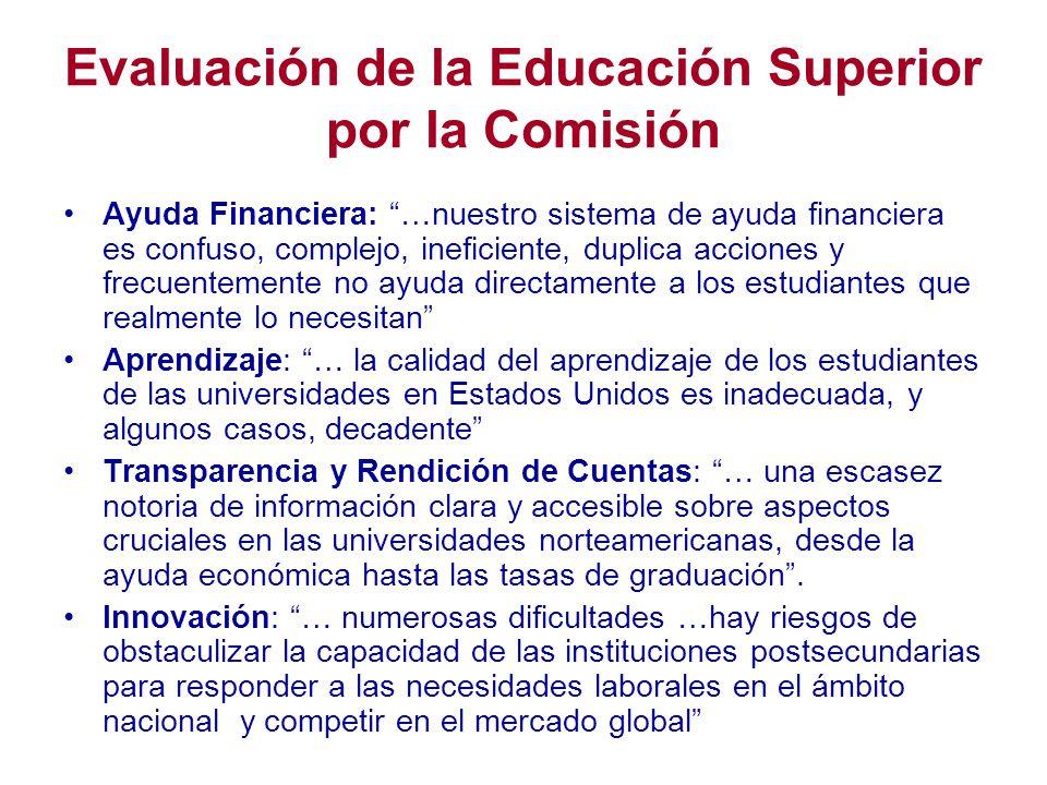 Evaluación de la Educación Superior por la Comisión