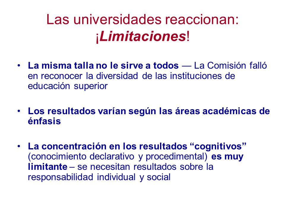 Las universidades reaccionan: ¡Limitaciones!