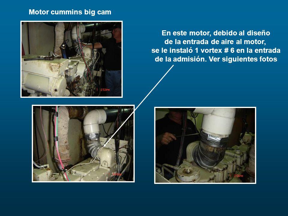 En este motor, debido al diseño de la entrada de aire al motor,