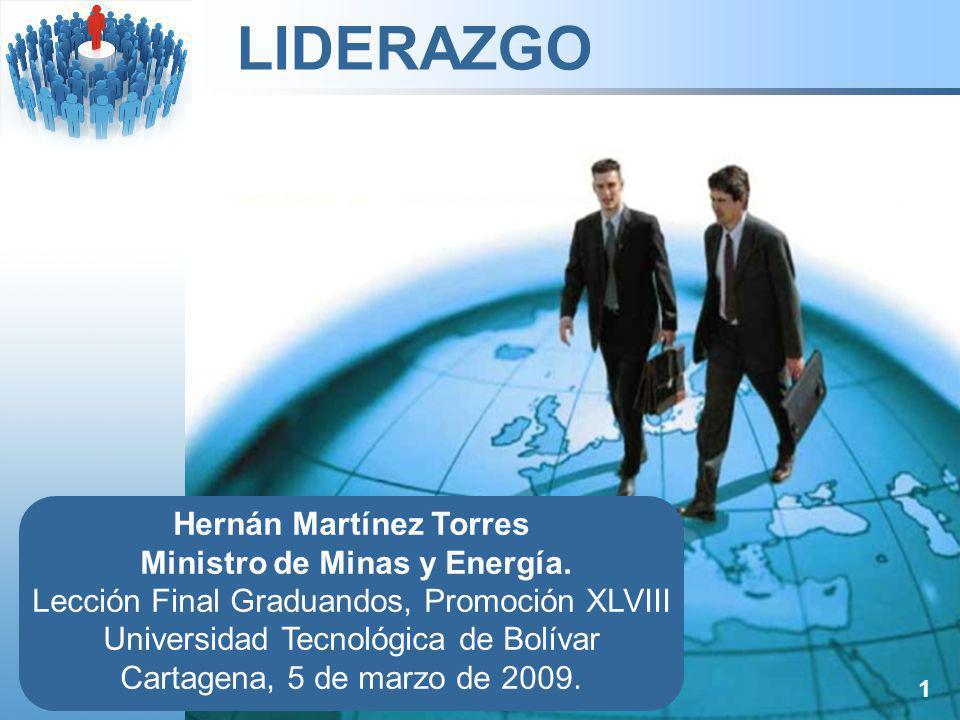 Hernán Martínez Torres Ministro de Minas y Energía.