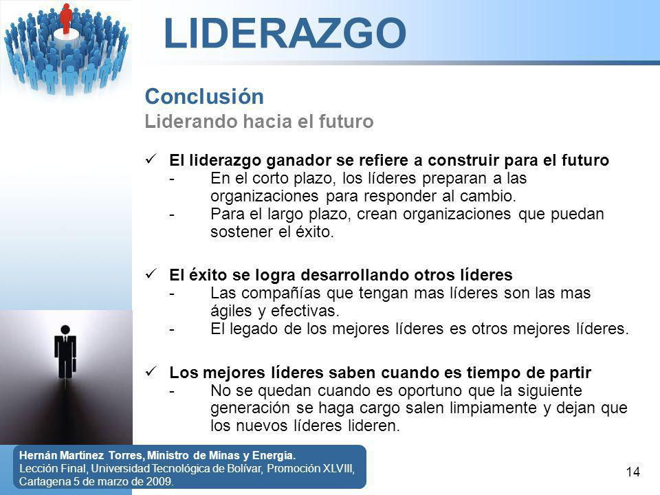 Conclusión Liderando hacia el futuro