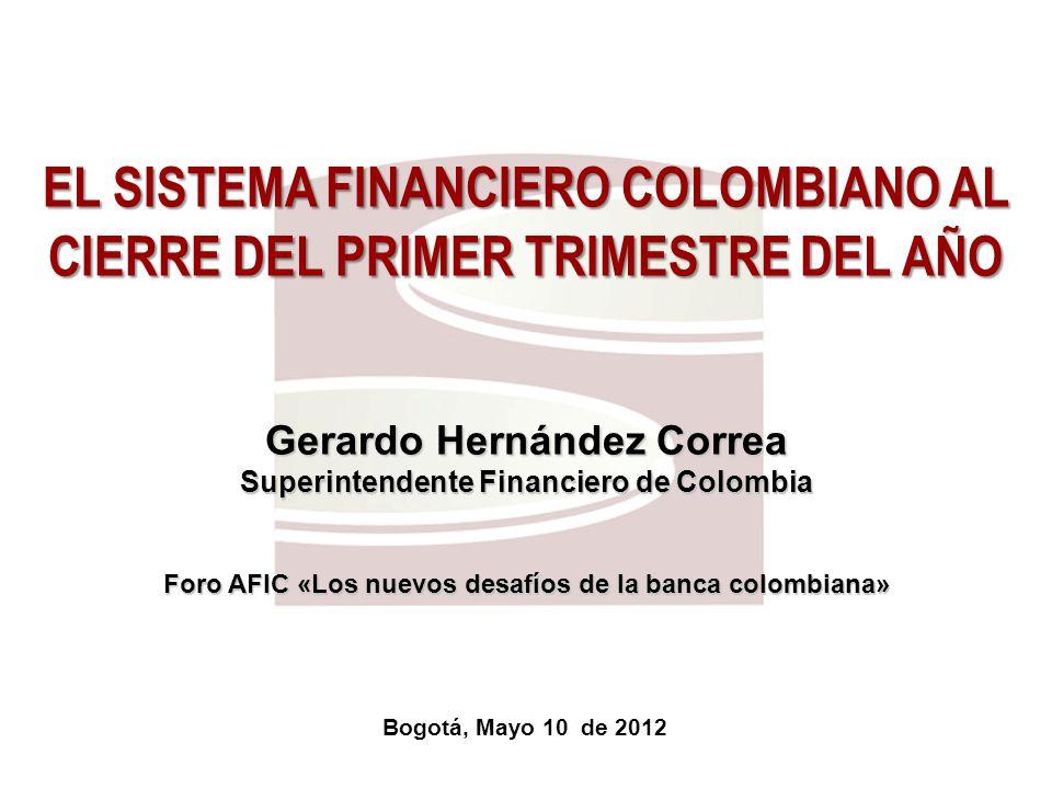 EL SISTEMA FINANCIERO COLOMBIANO AL CIERRE DEL PRIMER TRIMESTRE DEL AÑO
