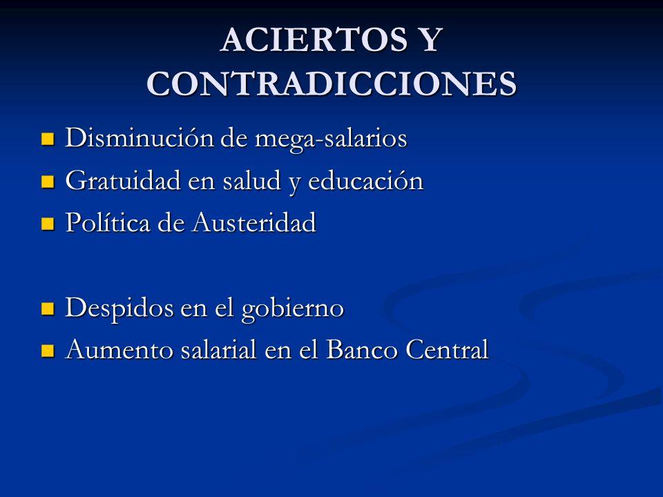 ACIERTOS Y CONTRADICCIONES